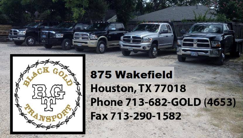 Black Gold Transport, LLC 875 Wakefield Houston TX 77018